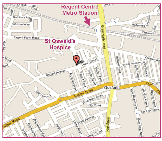 map of area around hospice